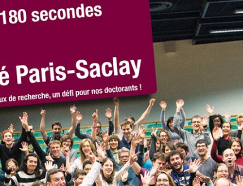 Elies Gherbi a été sélectionné pour participer à la finale pour l'Université Paris-Saclay de MT180, le jeudi 14 mars 2019