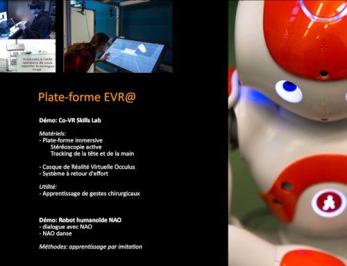 La plate-forme EVR@ participe à la semaine de l'Industrie 2019
