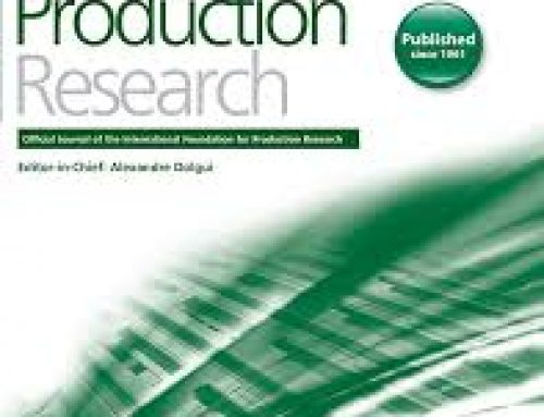 "Le laboratoire IBISC participe à l'édition d'un Special Issue de la revue International Journal of Production Research (top ranked): ""Big Data Analytics in the Production and Distribution Industry"""